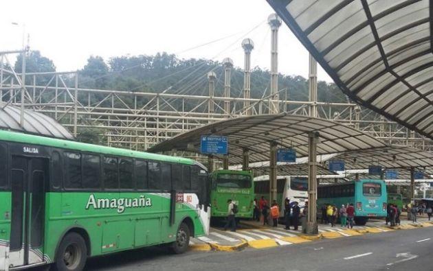 """""""Desde el día de mañana todo el transporte sale a trabajar"""", dijo Santamaría de la Cámara de Transportistas de Quito. Foto: Twitter Obras Quito"""