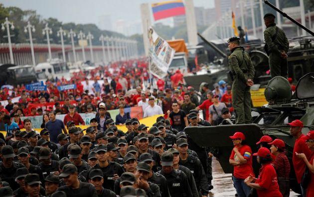 """Los ejercicios militares se dan luego que el estadounidense, Donald Trump, señalara que no descartaba la """"opción militar"""" para el país suramericano. Foto: Reuters"""
