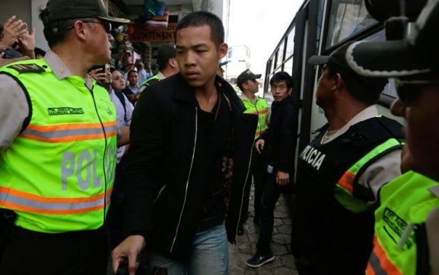 China pidió hoy a las autoridades ecuatorianas que respeten los derechos de los pescadores de nacionalidad china que fueron condenados a penas de cárcel por pesca de especies protegidas. Foto: EFE
