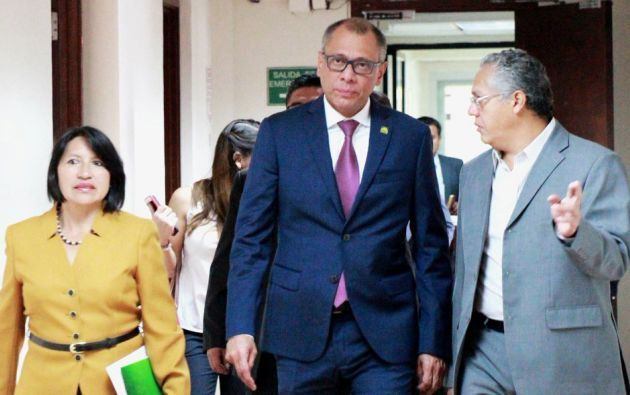 El segundo mandatario no compareció a la audiencia, pero fue representado en la sala por su abogado Eduardo Franco Loor. Foto: Archivo