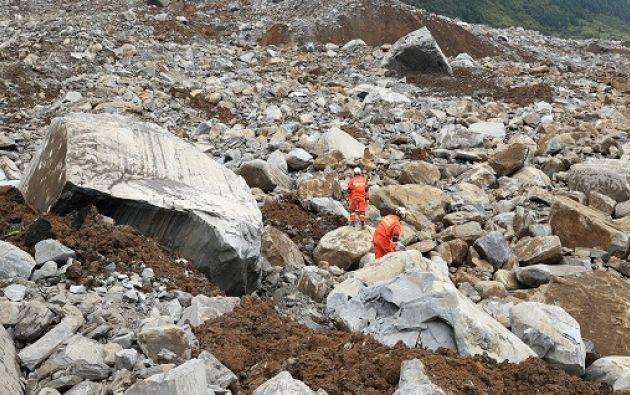 Los desprendimientos de tierra son frecuentes en las zonas rurales y montañosas de China. Foto: Reuters