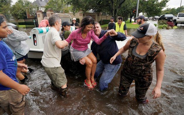 """""""lluvias torrenciales"""" que inundaron zonas del sureste de Texas y del suroeste de Louisiana. Foto: Reuters"""