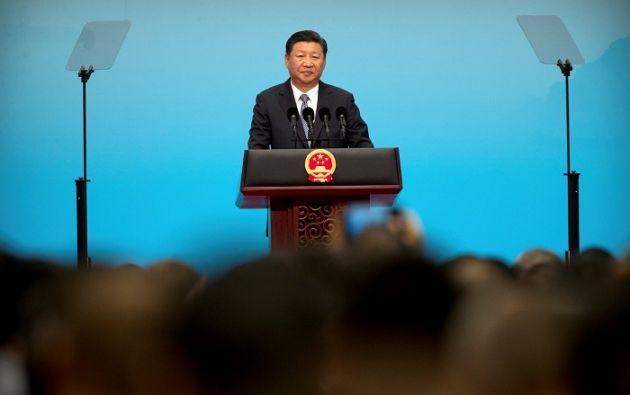 Xi Jinping en un discurso ante un foro económico, previo a la cumbre de los BRICS (Brasil, Rusia, India, China y Sudáfrica). Foto: Reuters