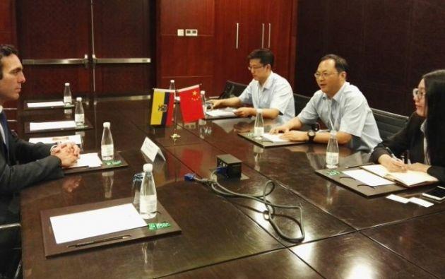 """En China """"hay apertura"""" para que ambos socios se sienten a negociar, afirmó Campana. Foto: Ministerio de Relaciones Exteriores."""