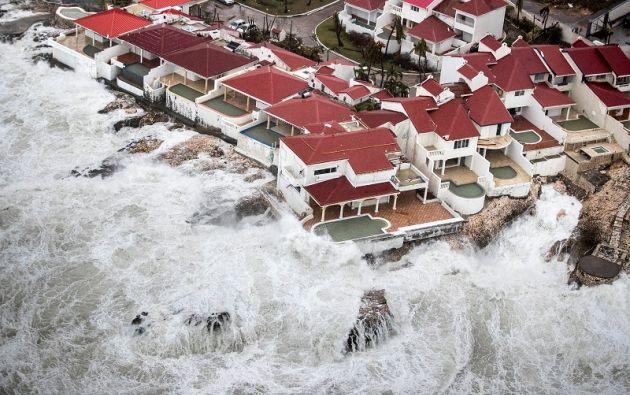 Huracán Irma en Sint Maarten, parte holandesa de la isla de San Martín en el Caribe. Foto: Reuters