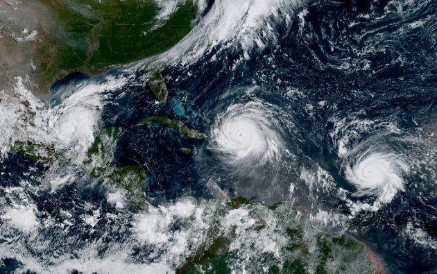 José se encontraba a 955 kilómetros al este de las Antillas Menores, en el Caribe. Foto: Reuters