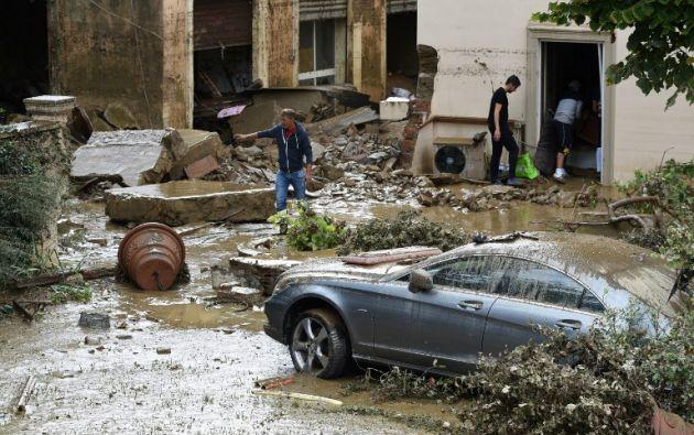 """""""La situación es muy difícil, es crítica. Tememos un desastre"""", declaró el alcalde de Livorno, Filippo Nogarin. Foto: AFP"""