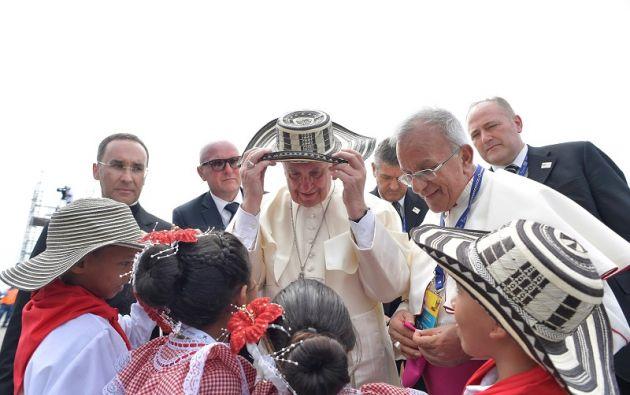 El pontífice argentino quiso dedicar su última jornada para entrar en contacto con los pobres de Cartagena. Foto: Reuters