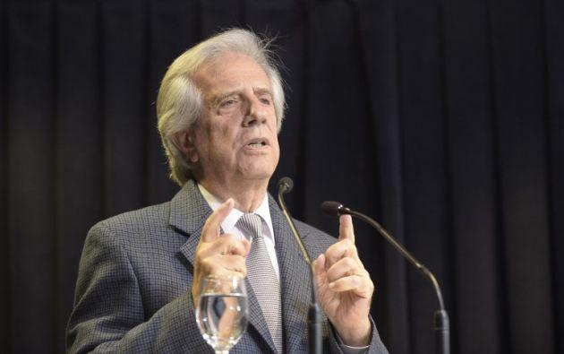 """Vázquez dijo que se vio """"absolutamente"""" sorprendido por el anuncio que su compañero de fórmula en las elecciones de 2014. Foto: AFP"""