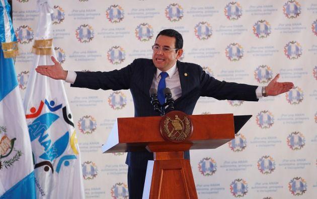 Para levantar la inmunidad al presidente son necesarios 105 votos de los 158 diputados del Congreso guatemalteco. Foto: Reuters