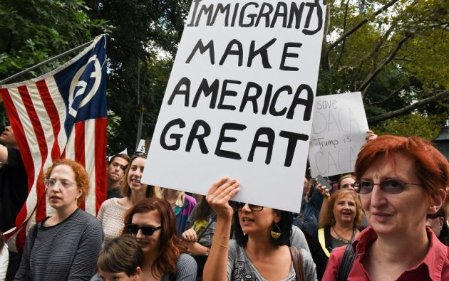 """El presidente estadounidense, Donald Trump, puso fin al programa que protegía a 800.000 jóvenes ilegales llamados """"dreamers"""". Foto: Reuters"""