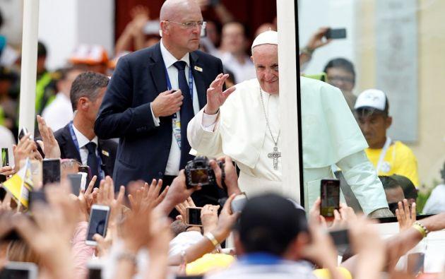 Francisco hizo la semana pasada una visita de cinco días a Colombia durante la cual estuvo en Bogotá, Villavicencio, Medellín y Cartagena. Foto: Reuters
