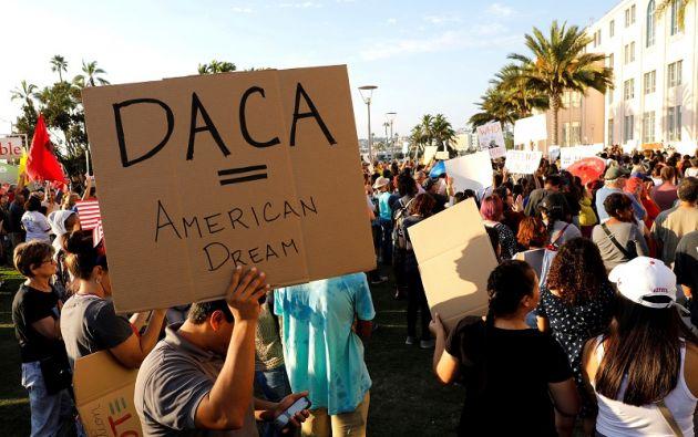 """""""Estamos trabajando en un plan para el DACA, la gente quiere que eso suceda"""", dijo Trump. Foto: Reuters"""