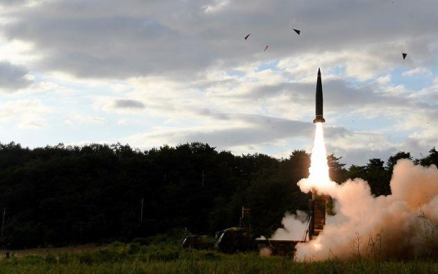 El cohete fue disparado cerca de Pyongyang, días después de que el Consejo de Seguridad de la ONU aprobara una octava serie de sanciones. Foto: Reuters