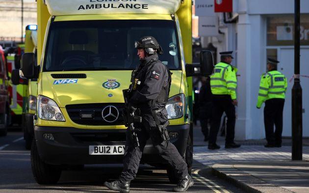 La explosión obligó a cerrar la estación de Parsons Green y los alrededores y a desalojar a los vecinos. Foto: Reuters