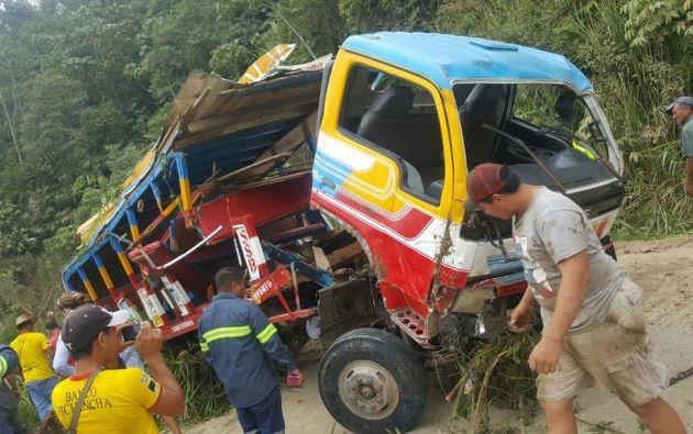 El reporte del ECU 911 indica que el lugar del accidente es una zona montañosa y está en el límite de los cantones Chone y Pichincha. Foto: Ecuavisa