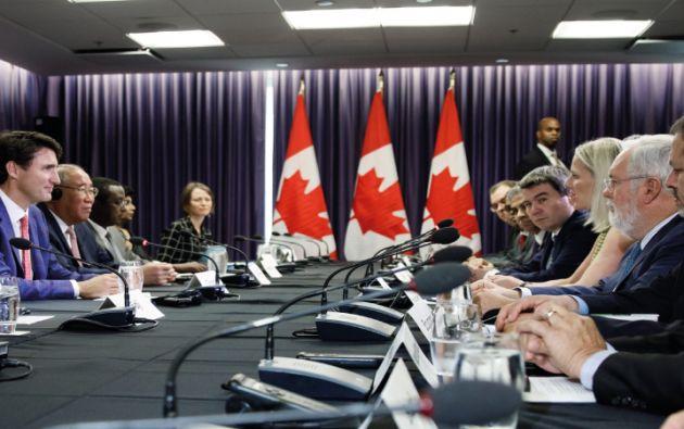 Canadá, China y la Unión Europea fueron los organizadores de esta reunión, la misma que es previa a la Conferencia de las Naciones Unidas sobre cambio climático. Foto: Ministerio Ambiente