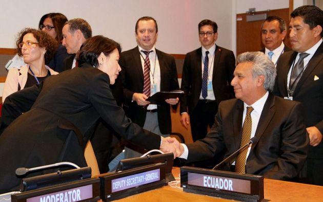 El evento analizó diferentes propuestas para reforzar el derecho internacional en materia ambiental y la instrumentación de acciones más efectivas. Foto: Presidencia