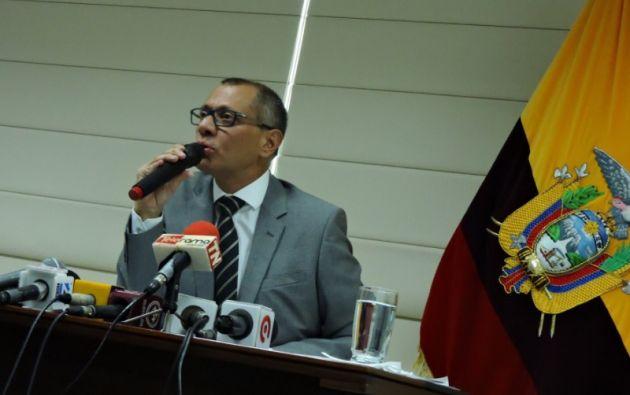 """""""Nunca de delegado gestión alguna, de ninguna naturaleza, a nadie"""", afirmó Glas. Foto: Vicepresidencia"""