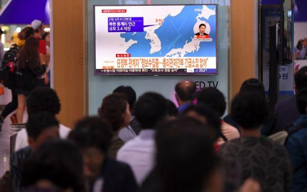 Las continuas pruebas armamentísticas del régimen de Pyongyang le han deparado ya 2 nuevos paquetes de sanciones de la ONU solo en 2017. Foto: AFP