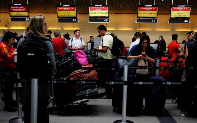 Entre el 20 y el 24 de septiembre 97.768 pasajeros se han visto afectados por la cancelación de 1.088 vuelos nacionales e internacionales. Foto: Reuters