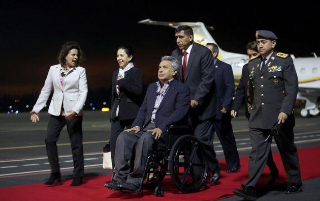 El Mandatario tuvo la oportunidad de concretar reuniones con representantes de la comunidad de ecuatorianos residentes en Estados Unidos. Foto: Presidencia