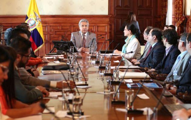Una vez recibidas las propuestas del Consejo Consultivo, el 10 de octubre Moreno dará a conocer su política económica. Foto: Presidencia