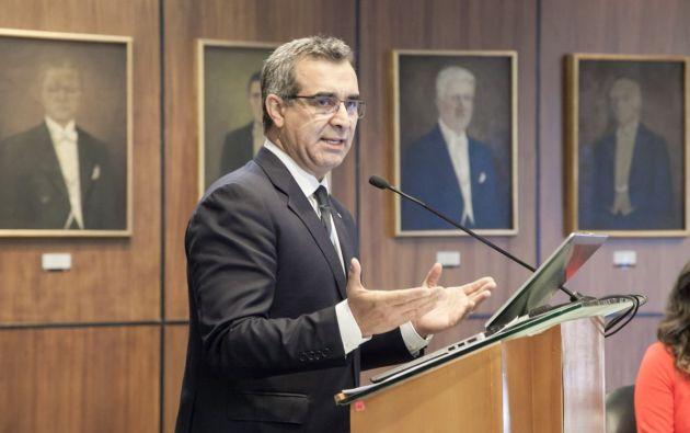 """Durante su comparecencia, el funcionario enfatizó solo 5 de 2.083 jueces en el país fueron destituidos por """"error inexcusable"""". Foto: Asamblea"""