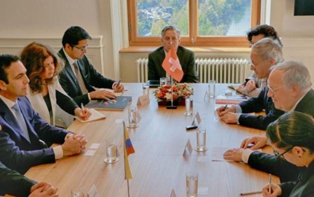 Ecuador negocia un acuerdo de libre comercio con la Asociación Europea de Libre Comercio (EFTA). Foto: Twitter Campana