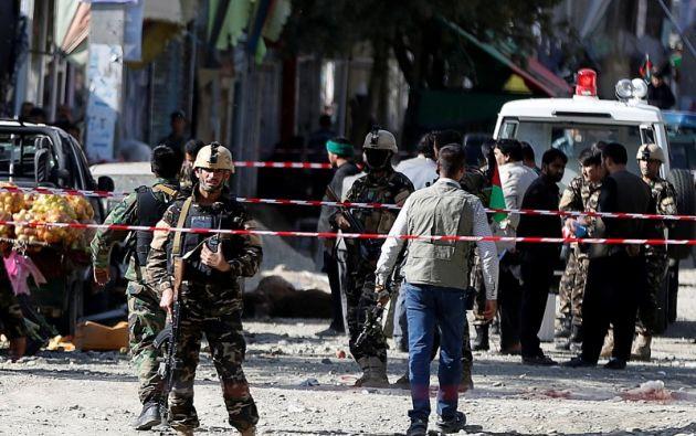 """""""Un kamikaze que fingía pastorear un cordero hizo estallar el explosivo a unos 140 metros de la mezquita Hussainia"""", indicó el jefe de la policía. Foto: Reuters"""
