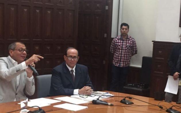 El intercambio de correos entre Rivera y Glas fue por su tesis, dijo el Vicepresidente. Foto: Vicepresidencia.