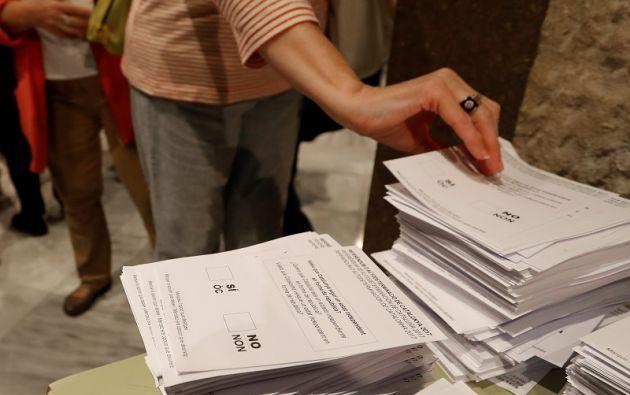 """En el referéndum se plantea la siguiente pregunta a los ciudadanos: """"¿Quiere que Cataluña sea un Estado independiente en forma de República?"""". Foto: Reuters"""