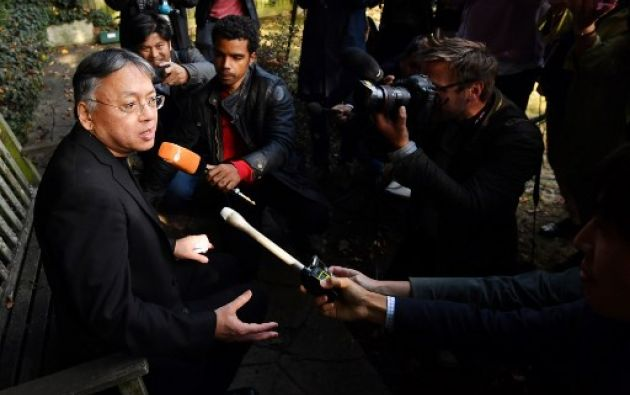 La elección de Ishiguro refuerza el dominio de la prosa y de la literatura en inglés en el palmarés del Nobel. Foto: AFP
