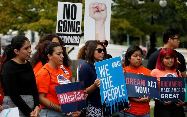 En total, el plan DACA, proclamado en 2012 por el Gobierno de Barack Obama, benefició a 800.000 jóvenes indocumentados. Foto: Reuters