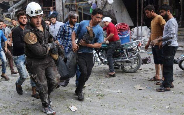 """Idelb es una de las cuatro zonas de """"disensión"""", en virtud de un acuerdo cerrado entre Rusia, Turquía e Irán en mayo. Foto: AFP"""