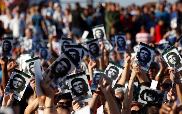 Es el primer homenaje al Che en Cuba sin Fidel Castro, su jefe y amigo, quien murió en noviembre pasado. Foto: Reuters