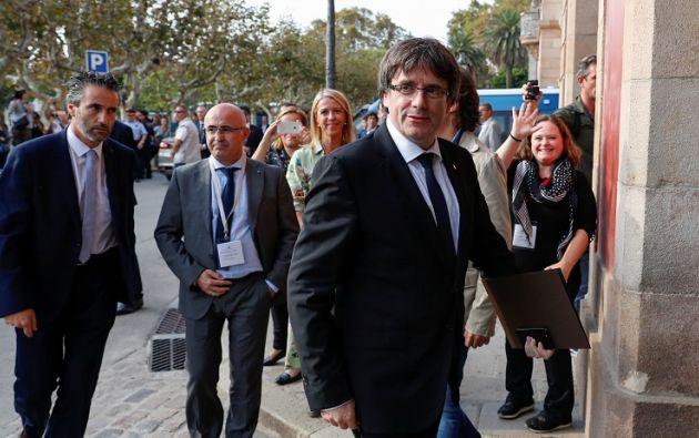 El discurso del líder catalán debe versar sobre la situación política de Cataluña tras el referéndum ilegal del pasado 1 de octubre. Foto: Reuters