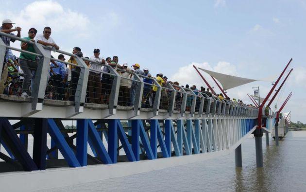 El puente se edificó para conectar Guayaquil con la isla Santay, para facilitar el acceso a los habitantes del sitio, y a la vez, para fomentar el turismo en esa zona. Foto: Ecuavisa