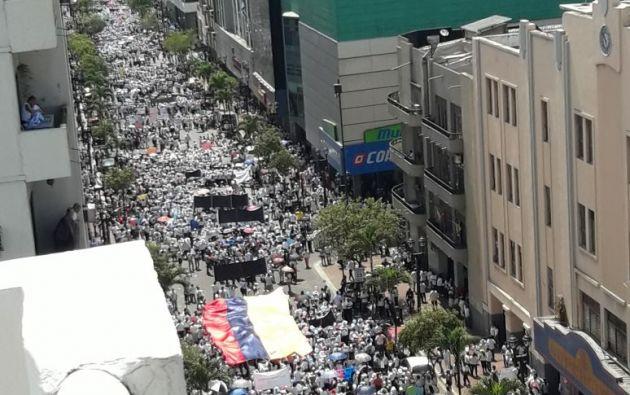 Guayaquil: marchan contra la ideología de género. Foto: Twitter