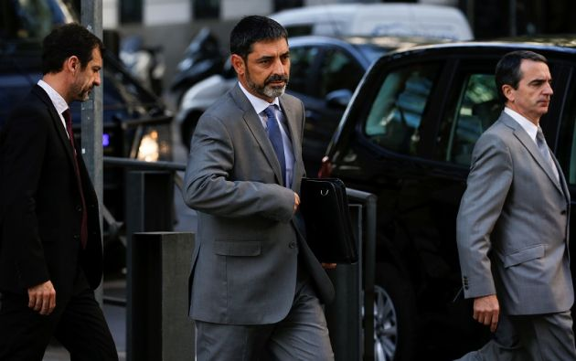 La petición de la fiscalía se podría basar en la presunción de que Trapero puede eventualmente seguir delinquiendo, porque el proceso independentista catalán sigue su curso. Foto: Reuters