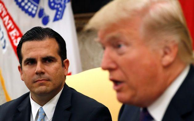 Roselló se reunió con Trump una semana después de que el presidente amenazara con retirar la ayuda federal para esta isla del Caribe. Foto: Reuters