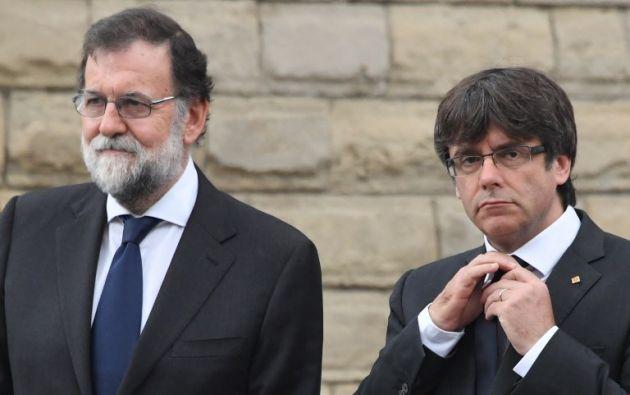 El gobierno español, presidido por Mariano Rajoy, decidió cortocircuitar financieramente al gobierno catalán de Carles Puigdemont. Foto: AFP