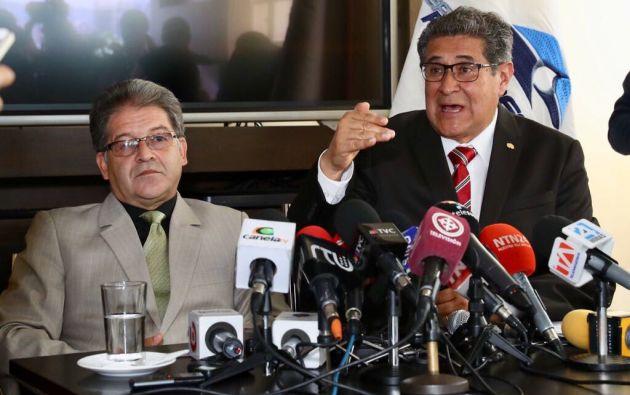 """""""Odebrecht no ha realizado la entrega definitiva de las obras a Petroecuador"""", afirmó Byron Ojeda, gerente de la estatal. Foto: Petroecuador"""