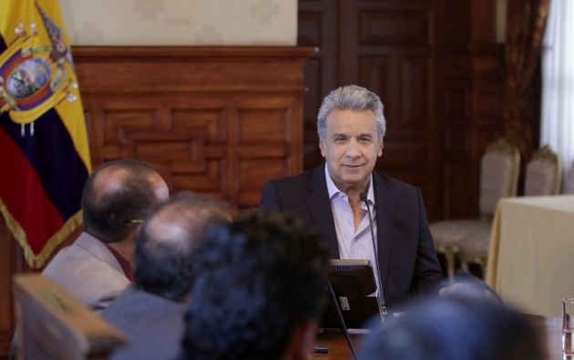 """""""Tenemos 9 inversionistas, solamente porque el actual Gobierno genera confianza"""", declaró Moreno. Foto: Presidencia"""