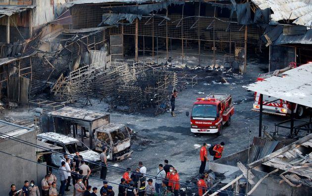 """Las víctimas estaban calcinadas y estaban """"prácticamente irreconocibles"""", declaró un bombero desplegado en el lugar. Foto: Reuters"""