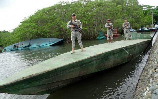 Los ecuatorianos tripulaban una embarcación que transportaba cocaína. Foto: Colprensa /VANGUARDIA LIBERAL