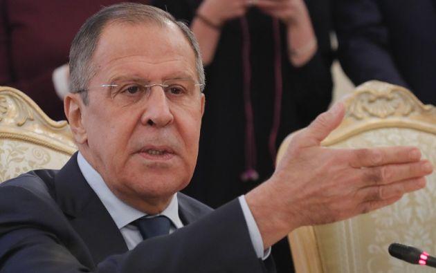 """""""Sin una sola prueba, como saben, nos acusan de injerencia en las elecciones no solo de Estados Unidos, sino también de Estados europeos"""", señaló Lavrov. Foto: Reuters"""