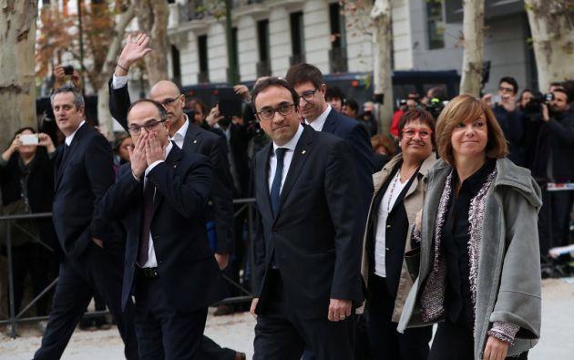 De los 9 que sí respondieron a la citación a declarar como sospechosos de rebelión y sedición, el fiscal aceptó solamente que uno pueda eludir la cárcel. Foto: Reuters