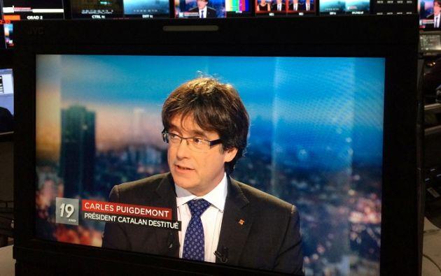 Carles Puigdemont se declaró dispuesto a presentarse a las elecciones regionales del 21 de diciembre. Foto: Reuters