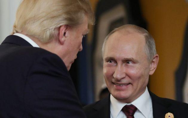 """""""Me dijo que de ninguna manera se había entrometido en nuestras elecciones"""", dijo Trump. Foto: AFP"""